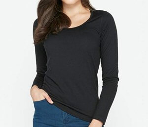 Icebreaker Merino Women's Oasis Long Sleeve Scoop in black