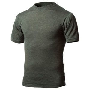 Minus33 Merino Wool Men's Algonquin Lightweight Short Sleeve Crew in Forest Green Heather