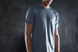 Outlier merino wool t-shirt in blue