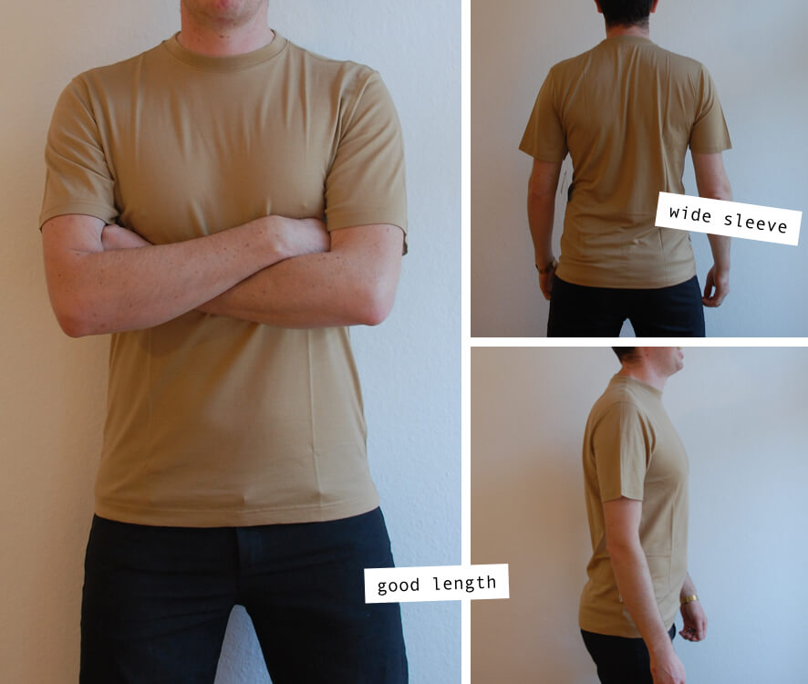 Tom from Merino Wool Rocks wearing the Minus33 Merino Wool Algonquin t-shirt in sand color