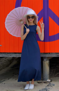 Boat Neck Maxi Dress from Smittenmerino