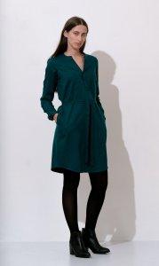 Clara shirt dress green WoolAnd