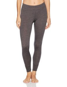Minus33 merino wool leggings Magalloway for women all seasons in Charcoal Grey