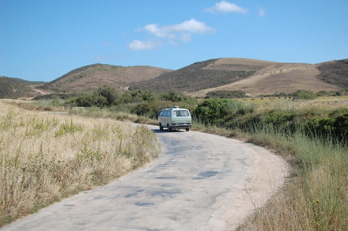 #vanlife in portugal with Charlotte