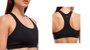 Icebreaker Womens The Icebreaker Merino Meld Zone Sports Bra in black