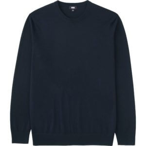 Uniqulo Men extra fine merino crewneck sweater