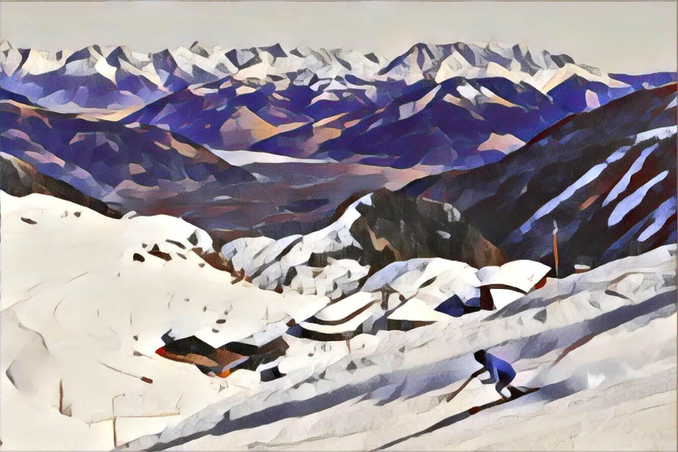 Snow and ski merino gear