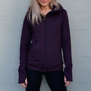 Fitted Fleece Hoody Jacket for women by Smitten Merino