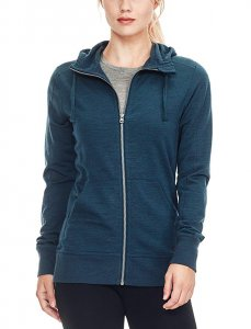 The Icebreaker Women's Dia Long Sleeve Zip Hood Fleece