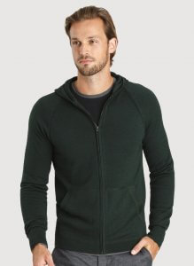 Kitandace hoodie men in green