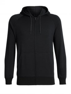 Men's Helliers Long Sleeve in blackZip Hood