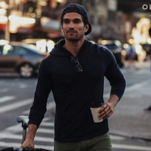 The OLIVERS Apparel, Mens Merino Wool Performance Porter Hoodie