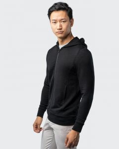 Unbound merino wool travel hoodie