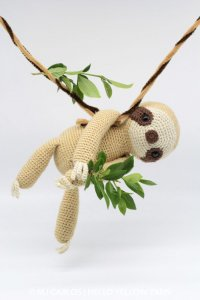 Crochet Sloth pattern from HelloYellowYarn