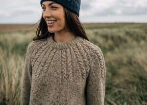 Finisterre Carston Cable Jumper chunky merino