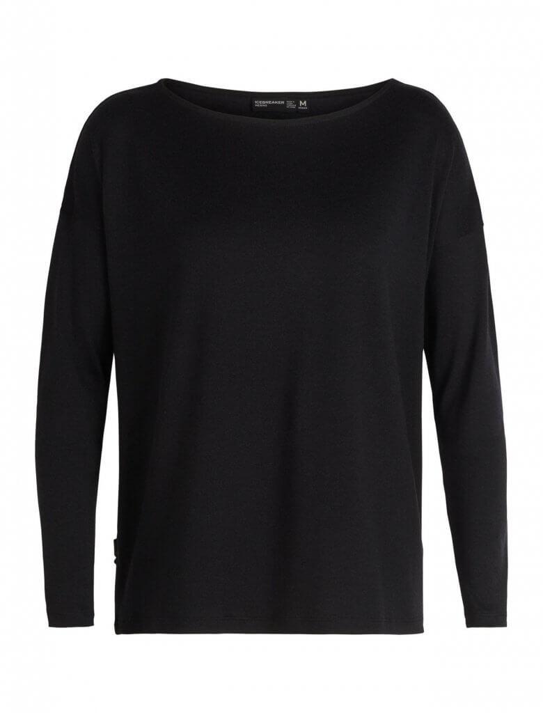 Icebreaker 旅 TABI DEICE women sweater in black