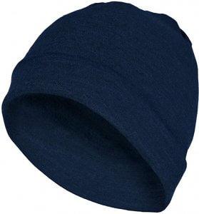 MERIWOOL Meriwool Unisex Merino Wool Cuff Beanie Hat navy blue